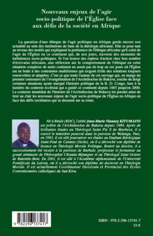 4eme Nouveaux enjeux de l'agir socio-politique de l'Eglise face aux défis de la société en Afrique