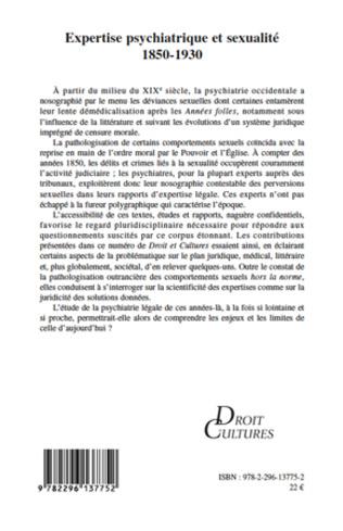 4eme Expertise psychiatrique et sexualité 1850-1930