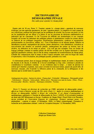 4eme Dictionnaire de démographie pénale