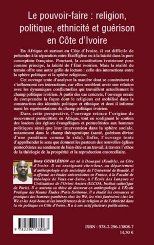 4eme Le pouvoir-faire : religion, politique, ethnicité et guérison en Côte d'Ivoire