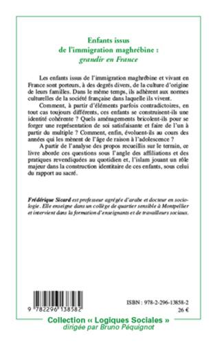 4eme Enfants issus de l'immigration maghrébine: grandir en France