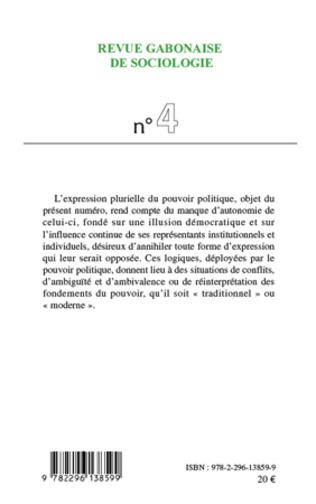 4eme L'expression plurielle du pouvoir politique au Gabon