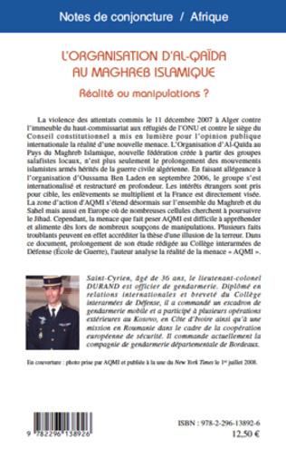4eme L'organisation d'Al-Qaïda au Maghreb Islamique