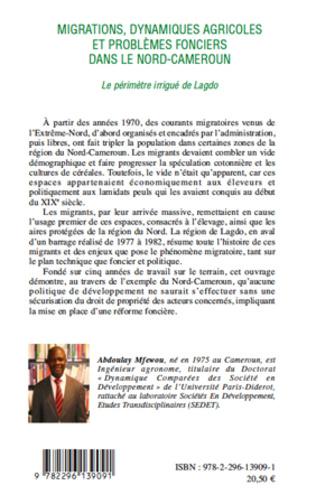 4eme Migrations, dynamiques agricoles et problèmes fonciers dans le Nord-Cameroun