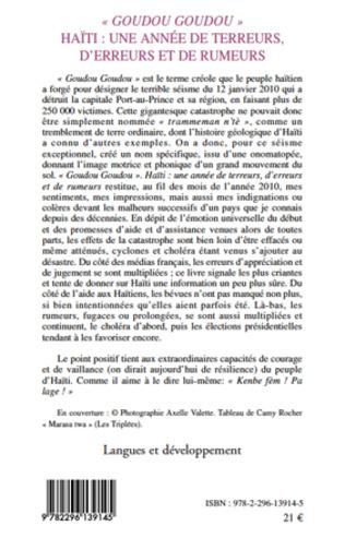 4eme Goudou Goudou - Haïti : une année de terreurs, d'erreurs et de rumeurs