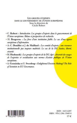 4eme Les groupes d'experts dans le gouvernement de l'Union européenne
