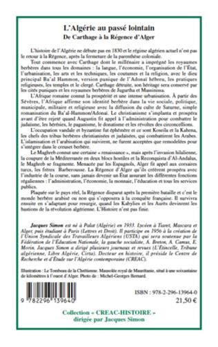 4eme L'Algérie au passé lointain de Carthage à la régence d'Alger