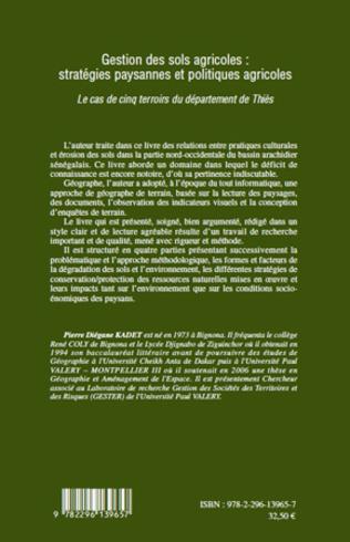 4eme Gestion des sols agricoles : stratégies paysannes et politiques agricoles