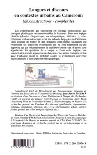 4eme Langues et discours en contextes urbains au Cameroun