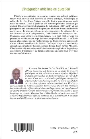 4eme L'intégration africaine en question