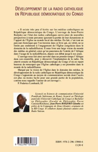 4eme Développement de la radio catholique en République Démocratique du Congo