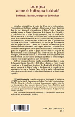 4eme Les enjeux autour de la diaspora burkinabè
