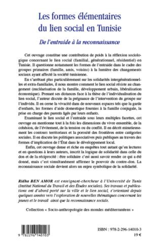 4eme Les formes élémentaires du lien social en Tunisie