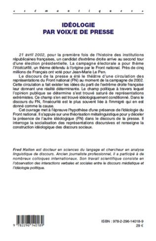 4eme Idéologie par voix/e de presse
