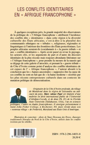 4eme Les conflits identitaires en Afrique francophone