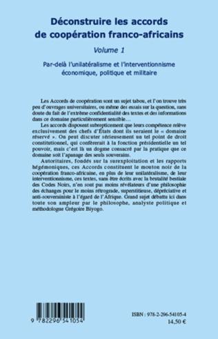 4eme Déconstruire les accords de coopération franco-africaine (Volume 1)