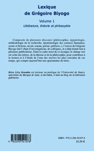 4eme Lexique de Grégoire Biyogo (Volume 1)