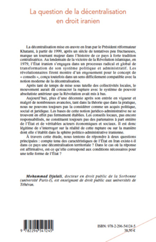 4eme La question de la décentralisation en droit iranien