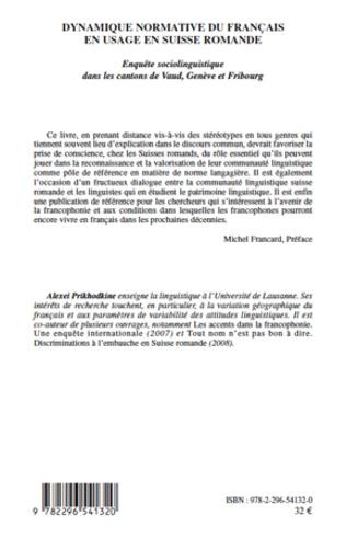 4eme Dynamique normative du français en usage en Suisse romande