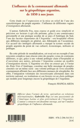 4eme L'influence de la communauté allemande sur la géopolitique argentine, de 1850 à nos jours