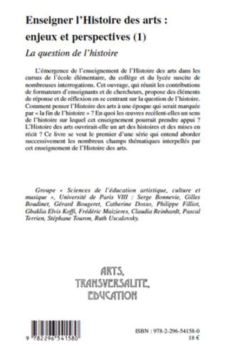 4eme Enseigner l'Histoire des arts : enjeux et perspectives (1)