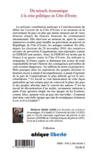 4eme Du miracle économique à la crise politique en Côte d'Ivoire