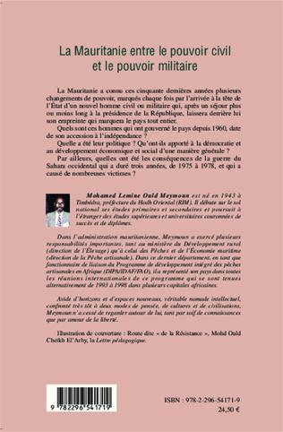 4eme La Mauritanie entre le pouvoir civil et le pouvoir militaire