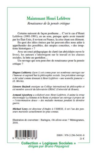 4eme Maintenant Henri Lefebvre