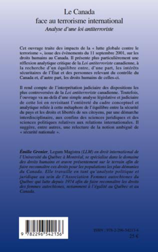 4eme Le Canada face au terrorisme international