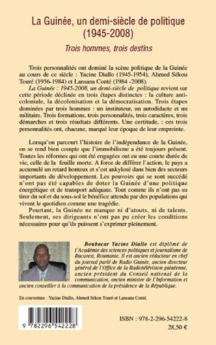 4eme La Guinée, un demi-siècle de politique (1945-2008)