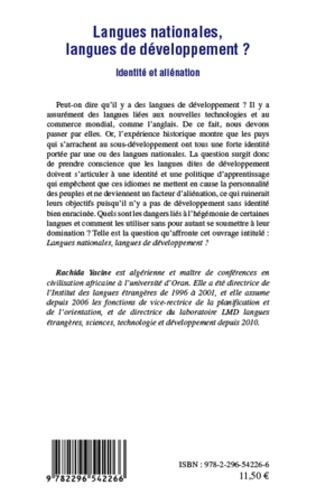 4eme Langues nationales, langues de développement ?