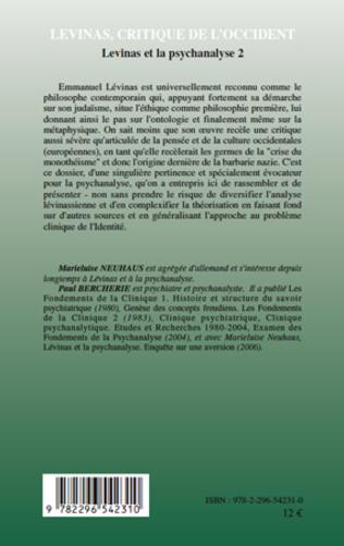 4eme Lévinas, critique de l'Occident