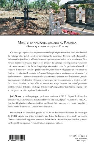 4eme Mort et dynamiques sociales au Katanga (République Démocratique du Congo)