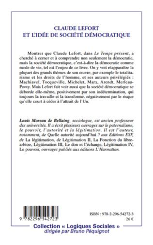 4eme Claude Lefort et l'idée de société démocratique
