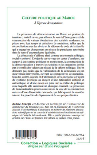 4eme Culture politique au Maroc