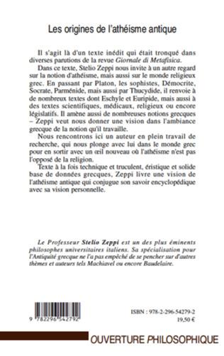 4eme Les origines de l'athéisme antique