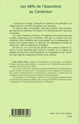 4eme Les défis de l'assurance au Cameroun