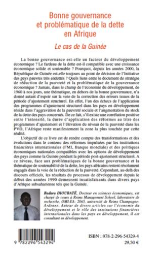 4eme Bonne gouvernance et problématique de la dette en Afrique