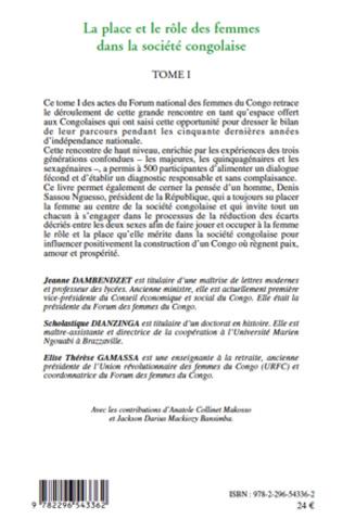 4eme La place et le rôle des femmes dans la société congolaise (Tome I)