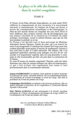 4eme La place et le rôle des femmes dans la société congolaise (Tome II)