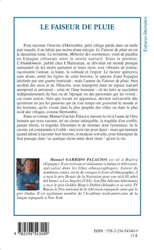4eme FAISEUR DE PLUIE   ROMAN
