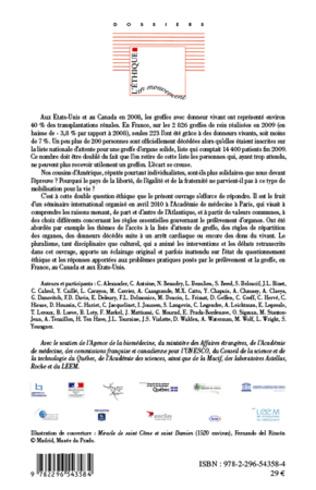 4eme Don et transplantation d'organes au Canada, aux Etats-Unis et en France