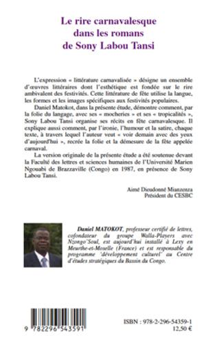 4eme Le rire carnavalesque dans les romans de Sony Labou Tansi
