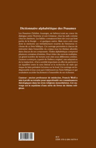 4eme Dictionnaire alphabétique des psaumes (Tehilim)