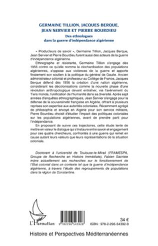 4eme Germaine Tillion, Jacques Berque, Jean Servier et Pierre Bourdieu