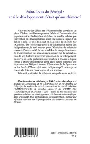 4eme Saint-Louis du Sénégal : et si le développement n'était qu'une chimère ?