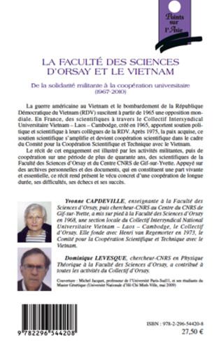 4eme Faculté des sciences d'Orsay et le Vietnam