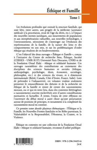 4eme Ethique et Famille (Tome 1)