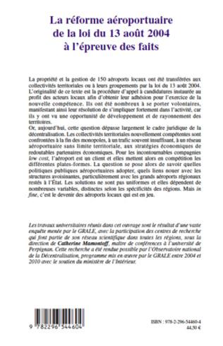 4eme La réforme aéroportuaire de la loi du 13 août 2004 à l'épreuve des faits