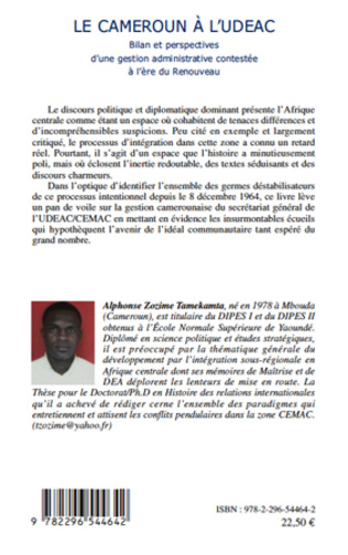 4eme Le Cameroun à l'UDEAC